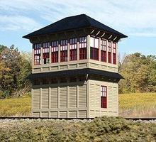 American-Models Pennsylvania MO Tower Laser-Cut Wood Kit HO Scale Model Railroad Building #185