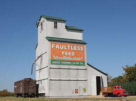 American-Models Country Grain Elevator HO Scale Model Railroad Building #193