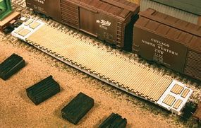 American-Models Wood Deck Set for Tangent GSC 60' Flatcar Kit HO Scale Model Train Freight Car Part #200