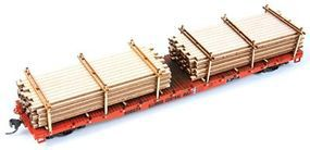 American-Models Extended Lumber Kit (Fits GSC 53'6'' Flatcars) HO Scale Model Train Freight Car Load #201