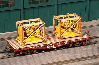 American Model Builders Generator Crates pkg(2) - Kit (Laser-cut Wood) -- HO Scale Model Train Freight Car Load -- #213