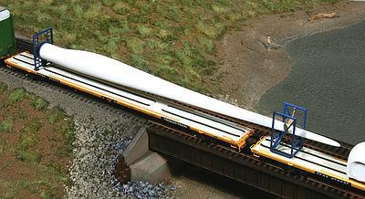 Wind Turbine Blade w/Blocking Flatcar Load - Kit