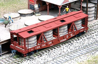 American-Models Pickle Car Conversion Kit - Athearn or Tichy 40 Flatcar HO Scale Model Train Frieght Car #391
