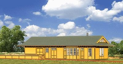 American Model Builders Southern Pacific Combination Type 23 Depot Kit -- O Scale Model Railroad Building -- #450
