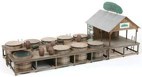 American-Models The Pickle Works G. R. Dill & Sons Salting Station Kit O Scale Model Railraod Building #451
