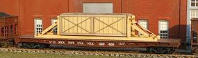 American-Models Crate w/Blocking O Scale Model Train Freight Car Load #457