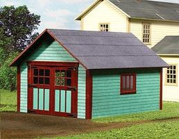 American-Models Single Car Garage - Laser-Cut Wood Kit O Scale Model Railraod Building #469
