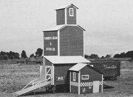 American-Models Farmers Grain & Stock Company Laser-Cut Wood Kit O Scale Model Railraod Building #472