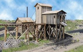 American-Models Martinsburg Coal Mine #1 Kit - 20 x 20 x 8-1/2 O Scale Model Railraod Building #488