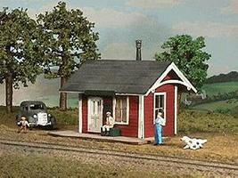 American-Models Branchline Station w/Platform Kit O Scale Model Railroad Building #490