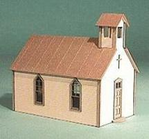 American-Models Crossroads Church Kit O Scale Model Railroad Building #491
