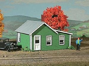 American-Models Company House Kit O Scale Model Railroad Building #493