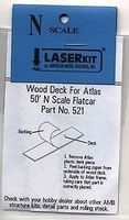 American-Models Atlas 50 Flatcar Wood Deck (2) N Scale Model Train Freight Car Part #521
