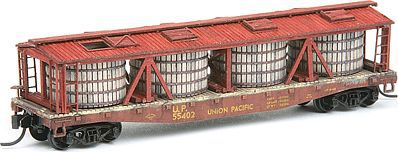 American-Models Pickle Car Conversion - Kit - Fits Red Caboose Flatcar N Scale Model Train Freight Car #526