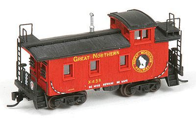 American Model Builders Great Northern 25' Wood Cupola Caboose - Kit -- N Scale Model Train Freight Car -- #550