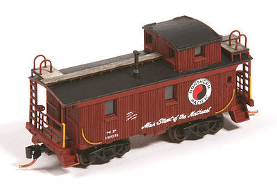 American Model Builders Northern Pacific 1200 Series Wood Cupola Caboose Kit -- N Scale Model Train Freight Car -- #553