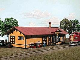 American-Models Santa Fe #3 Standard 1-Story Depot Kit N Scale Model Railroad Building #607