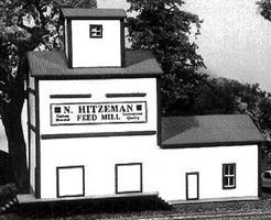 American-Models Hitzeman Feed Mill Kit 4-1/4 x 2-1/2 x 3-3/4 N Scale Model Railroad Building #611
