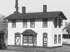American-Models Two story depot w/sq. bay - N-Scale