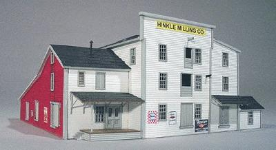 American-Models Hinkle Mill Laser-Cut Kit N Scale Model Railroad Building #653