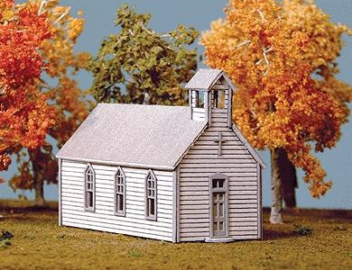 American Model Builders Crossroads Church Kit -- N Scale Model Railroad Building -- #691