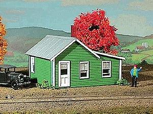 American-Models Company Houses 3-Pack Kit - 1-1/2 x 1-1/2 x 1 N Scale Model Railroad Building #698