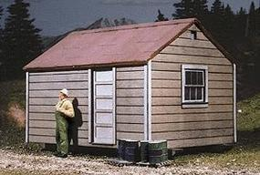 American-Models Long Bell Lumber Co. Skid Shacks (3) Kit HO Scale Model Railroad Building #710