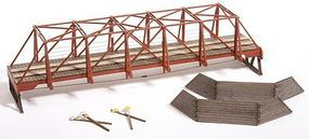 Wood Truss Auto Bridge Kit HO Scale Model Railroad Road Accessory #727
