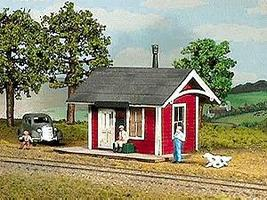 American-Models Branchline Depot Kit HO Scale Model Railroad Building #790