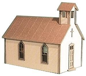 American Model Builders Crossroads Church Kit -- HO Scale Model Railroad Building -- #791