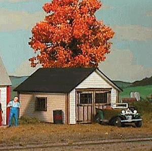 1 car garage building kit ho scale model railroad building for American garage builders