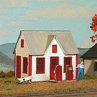 American-Models Gas Station Kit HO Scale Model Railroad Building #797