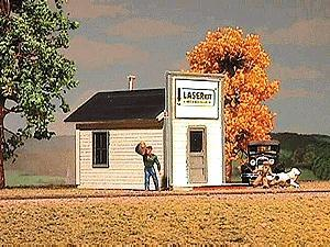 American-Models False-Front Store Kit HO Scale Model Railroad Building #799