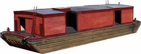 American-Models Rail-Marine Bump End Covered Barge Kit HO Scale Model Railroad Vehicle #8000