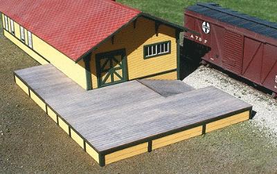HO Scale ** Laser Cut ** Custom Loading Dock KIT
