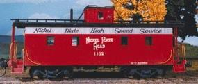 American-Models Wood Caboose Kit Nickel Plate Road HO Scale Model Train Freight Car #851