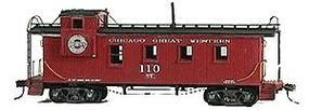 American-Models 33 Caboose Kit Chicago Great Western HO Scale Model Train Freight Car #856