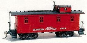 American-Models 28 Caboose Without Side Door Kit Illinois Central HO Scale Model Train Freight Car #862