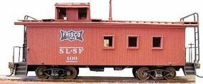 American-Models Wood Caboose - Kit St. Louis - San Francisco HO Scale Model Train Freight Car #863