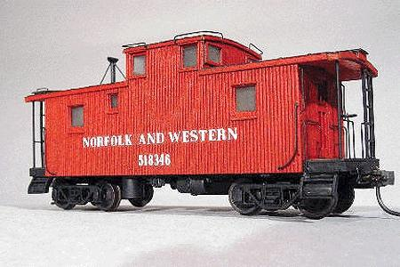 American Model Builders Class CF Caboose - Kit Norfolk & Western -- HO Scale Model Train Freight Car -- #864