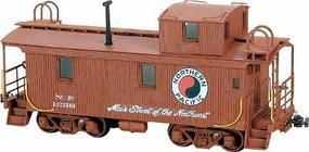 American-Models Wood Caboose - Kit Northern Pacific 1200 Series HO Scale Model Train Freight Car #871