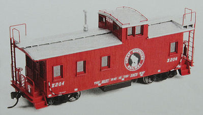 American Model Builders Great Northern 30' Plywood Sided Caboose Kit -- HO Scale Model Train Freight Car -- #880