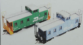 American-Models Great Northern 30' Plywood Sided Caboose Kit HO Scale Model Train Freight Car #881
