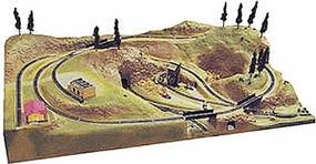 American-Plastics The Quarry Layout Extension Painted 48'' X 30'' N Scale Model Railroad Scenery #1025