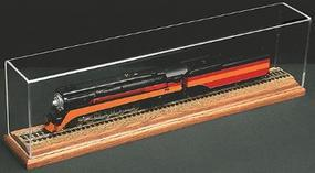 American-Plastics Wood Base (Oak) less Track 18'' HO Scale Model Train Display Case #h1018