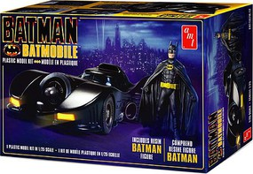 AMT 1989 Batmobile with Resin Batman Figure Plastic Model Vehicle Kit 1/25 Scale #1107