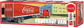 AMT Fruehauf Beaded Van Semi Trailer Coca-C Plastic Model Vehicle Kit 1/25 Scale #1109-06