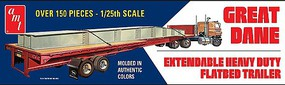 AMT Great Dane Flat Bed Trailer Plastic Model Vehicle Kit 1/25 Scale #1111