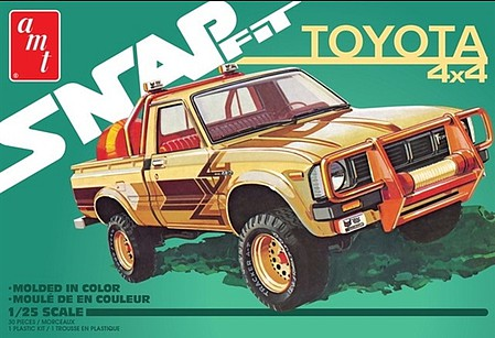 AMT 1980 Toyota Hilux SR5 Pickup 2T Snap Plastic Model Car Kit 1/25 Scale #1114m