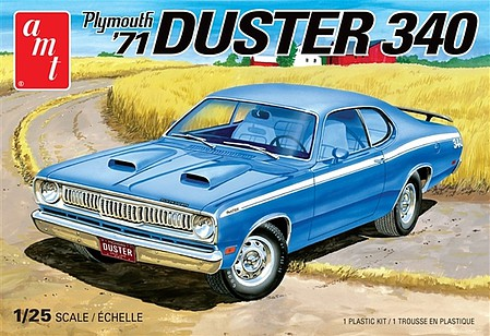 AMT 1971 Plymouth Duster 340 Plastic Model Car Kit 1/25 Scale #1118
